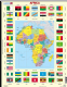 Africa Map with Country Flags - Frame/Board Jigsaw Puzzle 29cm x 37cm (LRS  KL3-GB)